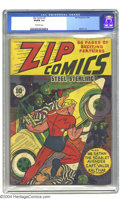 """Golden Age (1938-1955):Superhero, Zip Comics #2 (MLJ, 1940) CGC VG/FN 5.0 Off-white pages. One of the earliest """"Archie"""" (MLJ) titles featured Steel Sterling a..."""