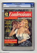 "Magazines:Romance, Confessions Illustrated #1 (EC, 1956) CGC NM- 9.2 Off-white pages. One of EC's ""picto-fiction"" magazines targeting adult rea..."