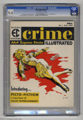Magazines:Crime, Crime Illustrated #1 (EC, 1955) CGC NM 9.4 Cream to off-whitepages. With a palette of a mere four colors (yellow, red, blac...