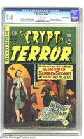 Golden Age (1938-1955):Horror, Crypt of Terror #17 Gaines File pedigree (EC, 1950) CGC NM+ 9.6Cream to off-white pages. A lone woman walks down a spooky, ...