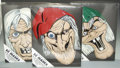 """Golden Age (1938-1955):Horror, EC """"Three GhouLunatics"""" Masks, Limited Hand-Painted Edition 9/25(EC, 1972). Produced exclusively for the 1972 EC Fan-Addict...(Total: 3 pieces Item)"""