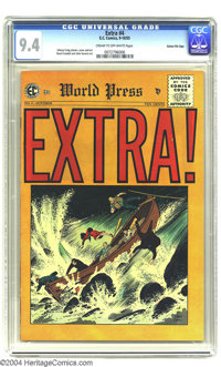 Extra! #4 Gaines File pedigree (EC, 1955) CGC NM 9.4 Cream to off-white pages. Johnny Craig wrote these stories, which f...