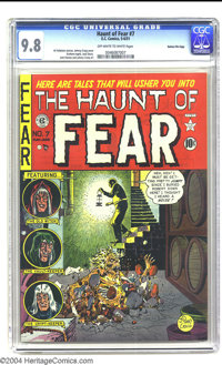 The Haunt of Fear #7 Gaines File pedigree 3/12 (EC, 1951) CGC NM/MT 9.8 Off-white to white pages. This flawless copy may...