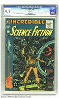 Golden Age (1938-1955):Science Fiction, Incredible Science Fiction #33 Gaines File pedigree 3/11(EC, 1956)NM- 9.2 White pages. This issue of Incredible Science F...