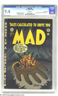 Golden Age (1938-1955):Humor, Mad #6 Gaines File pedigree 3/12 (EC, 1953) CGC NM 9.4 White pages. The genius of Harvey Kurtzman is at work on this early ...