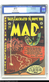 Mad #10 Gaines File pedigree 3/12 (EC, 1954) CGC NM 9.4 Off-white pages. The comic book that influenced all parody title...