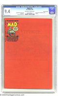 Golden Age (1938-1955):Humor, Mad #13 Gaines File pedigree 4/12 (EC, 1954) CGC NM 9.4 Off-white to white pages. It's really small, but Harvey Kurtzman's c...
