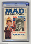 Magazines:Mad, Mad #60 (EC, 1961) CGC NM- 9.2 Off-white to white pages. Bob Clarkeoffers a funny flip cover that covers all bases, congrat...