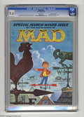 "Magazines:Mad, Mad #62 Gaines File pedigree (EC, 1961) CGC NM+ 9.6 White pages.This ""Special March Winds Issue"" from the blowhards at Ma..."