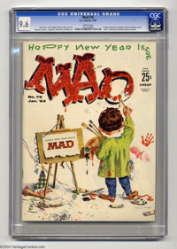 """Mad #76 (EC, 1962) CGC NM+ 9.6 White pages. Sergio Aragones makes his Mad debut in this issue, packaged under a """"Ha..."""
