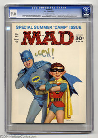 Mad #105 (EC, 1966) CGC NM+ 9.6 Off-white to white pages. Batman can't stomach his new boy wonder Alfred E. Neuman in No...