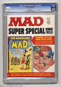 Magazines:Mad, Mad Super Special #12 (EC, 1974) CGC NM+ 9.6 White pages. When is areprint edition not a reprint edition? When it includes ...
