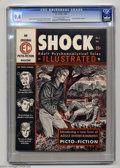 "Magazines:Crime, Shock Illustrated #1 (EC, 1955) CGC NM 9.4 Cream to off-whitepages. EC's first ""picto-fiction"" magazine, Shock Illustrate..."