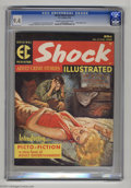 Magazines:Crime, Shock Illustrated #2 (EC, 1956) CGC NM 9.4 Cream to off-whitepages. An evocative, fully painted cover by Rudy Nappi seduces...