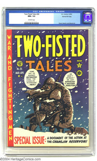 Two-Fisted Tales #28 Gaines File pedigree 7/10 (EC, 1952) CGC NM 9.4 Off-white pages. Harvey Kurtzman offers a brilliant...