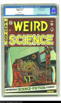 Golden Age (1938-1955):Science Fiction, Weird Science #8 Gaines File pedigree 10/12 (EC, 1951) CGC NM/MT9.8 Off-white pages. This gem-like beauty comes from Bill G...