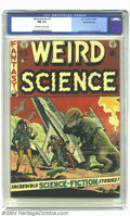 Golden Age (1938-1955):Science Fiction, Weird Science #15 Gaines File pedigree 10/12 (EC, 1952) CGC NM 9.4Off-white to white pages. Leave it to master draftsman Wa...