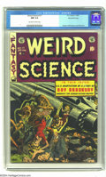 Golden Age (1938-1955):Science Fiction, Weird Science #17 Gaines File pedigree (EC, 1953) CGC NM 9.4Off-white to white pages. A pretty grim and scary corpse-filled...
