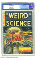 Golden Age (1938-1955):Horror, Weird Science #18 Gaines File pedigree (EC, 1953) CGC VF+ 8.5Off-white to white pages. A great mushroom cloud cover by Wall...