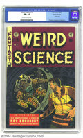 Golden Age (1938-1955):Science Fiction, Weird Science #19 Gaines File pedigree 4/10 (EC, 1953) CGC NM+ 9.6Off-white to white pages. A scary cover from the master o...