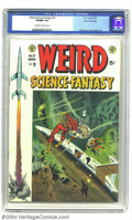 Golden Age (1938-1955):Science Fiction, Weird Science-Fantasy #23 Gaines File pedigree 3/11 (EC, 1954) CGCVF/NM 9.0 Off-white to white pages. This is the first com...