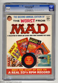 """Silver Age (1956-1969):Humor, Worst From Mad #2 (EC, 1959) CGC NM 9.4 Off-white to white pages. This second Mad annual includes the legendary """"Meet th..."""