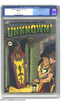 Golden Age (1938-1955):Horror, Adventures Into the Unknown #3 Diamond Run pedigree (ACG, 1949) CGCNM 9.4 White pages. Who can resist the lure of entering ...