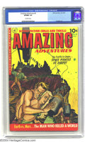 Golden Age (1938-1955):Science Fiction, Amazing Adventures #6 (Ziff-Davis, 1952) CGC VF/NM 9.0 Off-whitepages. Pulp-like painted covers distinguished this title fr...