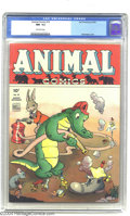 Golden Age (1938-1955):Funny Animal, Animal Comics #10 (Dell, 1944) CGC NM- 9.2 Off-white pages. WaltKelly cover. Overstreet 2003 NM 9.4 value = $300....