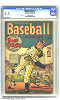 Golden Age (1938-1955):Miscellaneous, Baseball Comics #1 (Will Eisner Productions, 1949) CGC VG- 3.5 Cream to off-white pages. Will Eisner cover and art. Jules Fe...