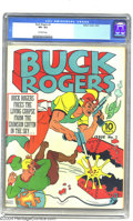 Golden Age (1938-1955):Science Fiction, Buck Rogers #3 (Eastern Color, 1941) CGC VF+ 8.5 Off-white pages.There's no oxygen in space, but there are oxymorons, as Bu...