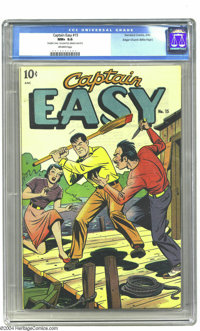Captain Easy #15 Double Cover - Mile High pedigree (Standard, 1949) CGC NM+ 9.6 Off-white pages. Here's a cover that pac...