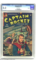 Golden Age (1938-1955):Science Fiction, Captain Rocket #1 Bethlehem pedigree (P.L. Publishing Co., 1951)CGC VF 8.0 Off-white pages. Canadian publisher P.L. may hav...