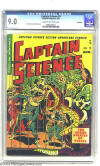 Captain Science #5 Bethlehem pedigree (Youthful Magazines, 1951) CGC VF/NM 9.0 Cream to off-white pages. You'll be blind...