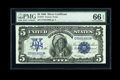 Large Size:Silver Certificates, Fr. 273 $5 1899 Silver Certificate PMG Gem Uncirculated 66 EPQ....