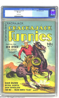 """Golden Age (1938-1955):Western, Crackajack Funnies #9 (Dell, 1939) CGC FN 6.0 Off-white pages. Thecover blurb """"Beginning now Red Ryder The Famous Fighting ..."""