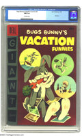 Golden Age (1938-1955):Cartoon Character, Dell Giant Comics - Bugs Bunny's Vacation Funnies #6 (Dell, 1956) CGC NM 9.4 Off-white pages. Here's another Bugs Bunny Dell...