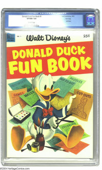 Donald Duck Fun Book File Copy (Dell Giant) #1 (Dell, 1953) CGC VF/NM 9.0 Off-white pages. This bright beauty looks like...