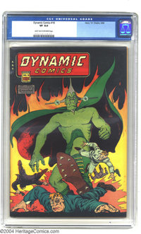 Dynamic Comics #18 (Chesler, 1946) CGC VF 8.0 Light tan to off-white pages. Great looking copy, with a near-flawless bla...