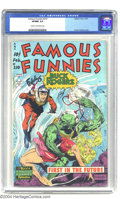 Golden Age (1938-1955):Science Fiction, Famous Funnies #210 (Eastern Color, 1954) CGC VF/NM 9.0 Cream to off-white pages. The Frazetta run of Famous Funnies cov...