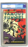 Golden Age (1938-1955):Science Fiction, Famous Funnies #216 (Eastern Color, 1955) CGC NM- 9.2 Off-white towhite pages. This is the final of an eight-issue consecut...