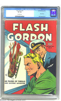Golden Age (1938-1955):Science Fiction, Four Color #10 Flash Gordon (Dell, 1942) CGC VF 8.0 Off-whitepages. The Four Color series was all about big-name charac...