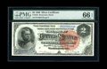 Large Size:Silver Certificates, Fr. 242 $2 1886 Silver Certificate PMG Gem Uncirculated 66 EPQ....