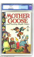 Golden Age (1938-1955):Miscellaneous, Four Color #59 Mother Goose and Nursery Rhyme Comics (Dell, 1944) CGC VF- 7.5 Cream to off-white pages. Clever use of white ...