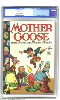 Four Color #59 Mother Goose and Nursery Rhyme Comics (Dell, 1944) CGC VF- 7.5 Cream to off-white pages. Clever use of wh...