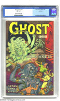 Golden Age (1938-1955):Horror, Ghost Comics #5 Northford pedigree (Fiction House, 1952) CGC NM 9.4Cream to off-white pages. You've got to love a comic wit...