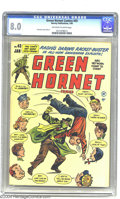 Golden Age (1938-1955):Crime, Green Hornet Comics #43 (Harvey, 1949) CGC VF 8.0 Off-white to white pages. Al Avison cover and art. Kerry Drake appearance....