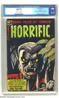 Golden Age (1938-1955):Horror, Horrific #8 River City pedigree (Harwell, 1953) CGC FN/VF 7.0 Creamto off-white pages. Origin and first appearance of The T...