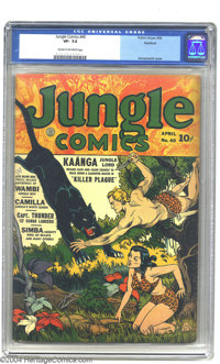 Jungle Comics #40 Rockford pedigree (Fiction House, 1943) CGC VF- 7.5 Cream to off-white pages. This attractive copy of...