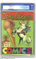Golden Age (1938-1955):Western, Lone Ranger Comics #1 (Lone Ranger Inc., 1939) CGC FN 6.0 Cream tooff-white pages. Testifying to this issue's scarcity, it ...